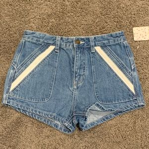 Free People Denim shorts NWT